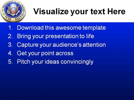 presidential seal americana powerpoint templates and powerpoint