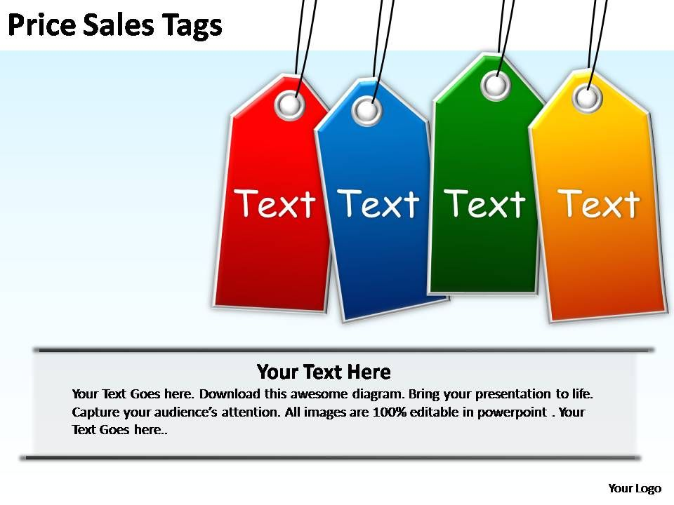 sales tags template