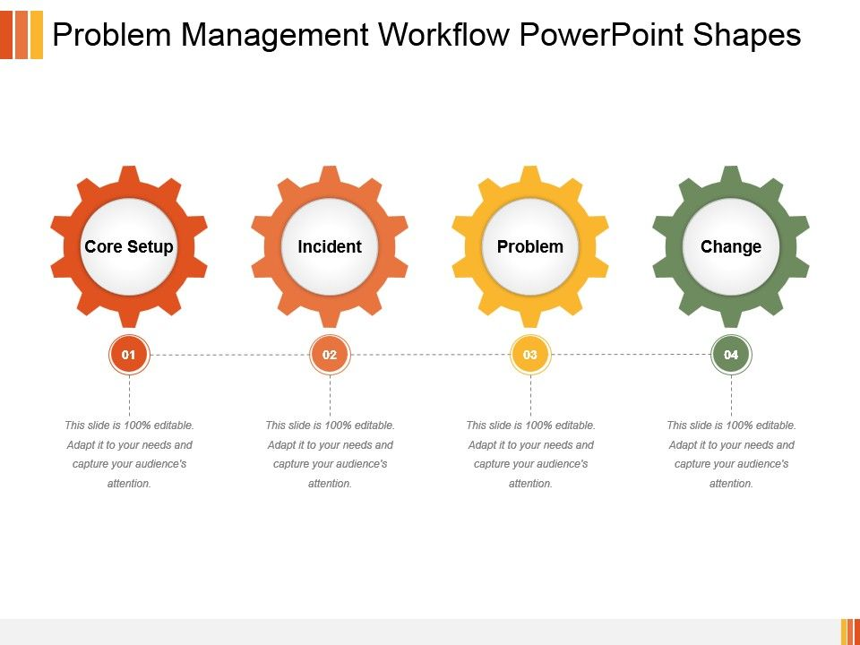 Problem Management Workflow Powerpoint Shapes Slide01