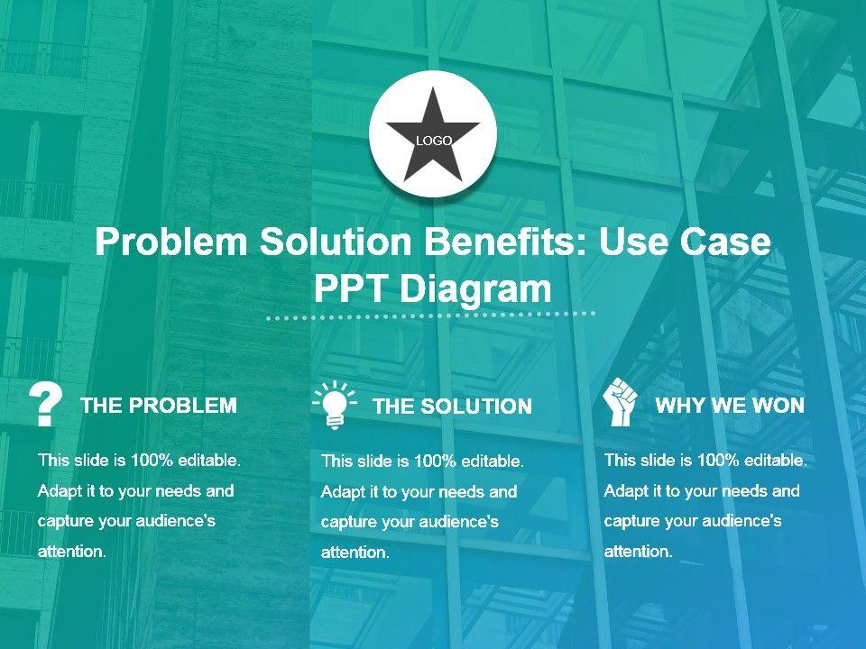 Problem Solution Benefits Use Case Ppt Diagram ...