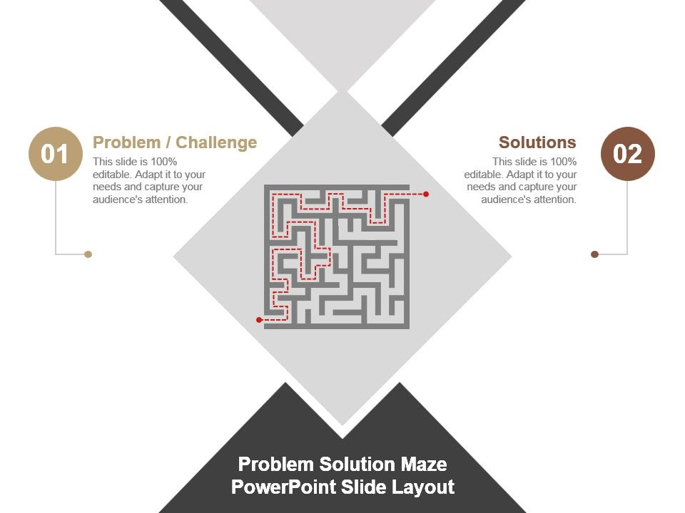 Problem Solution Maze Powerpoint Slide Layout Powerpoint