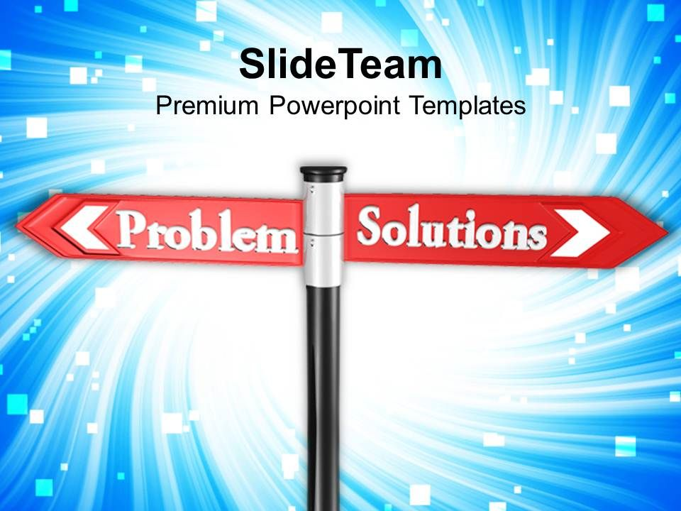 problem_solution_street_signpost_goals_powerpoint_templates_ppt_themes_and_graphics_Slide01
