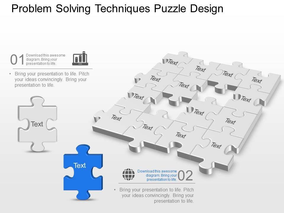 problem_solving_techniques_puzzle_design_powerpoint_template_slide_Slide01