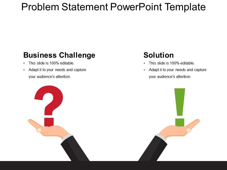 Problem statement template powerpoint