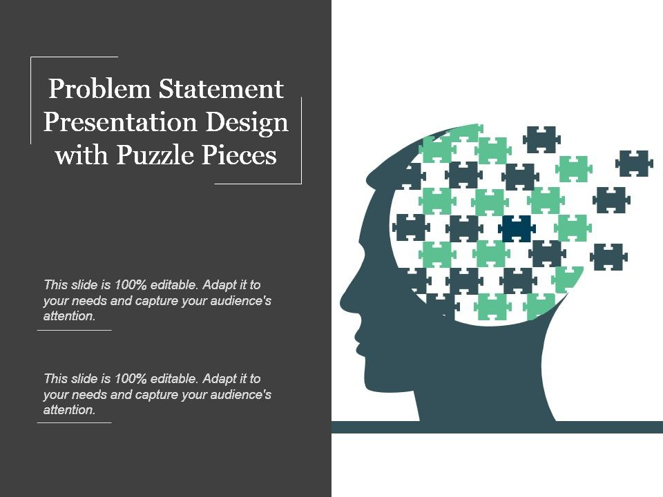 Problem Statement Presentation Design With Puzzle Pieces