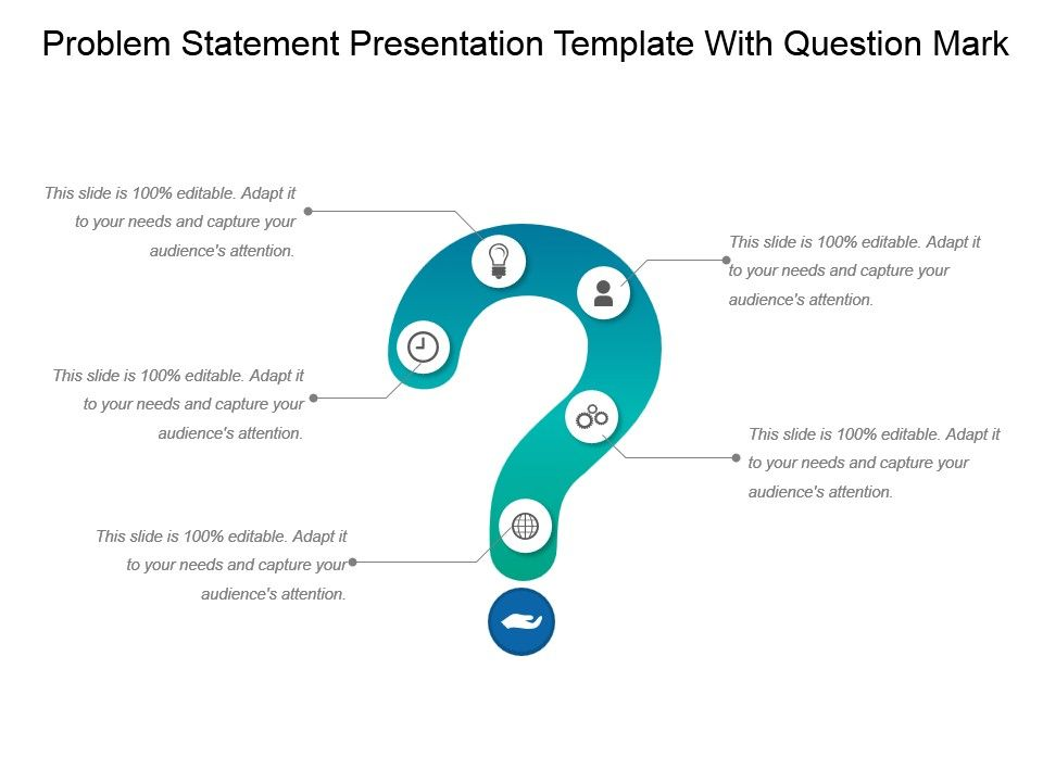 Problem Statement Presentation Template With Question Mark