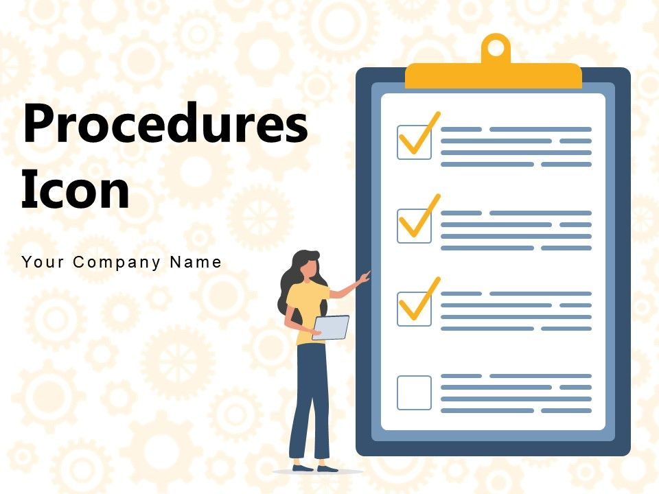Procedures Icon Gear Procedures Document Approval Strategies Development