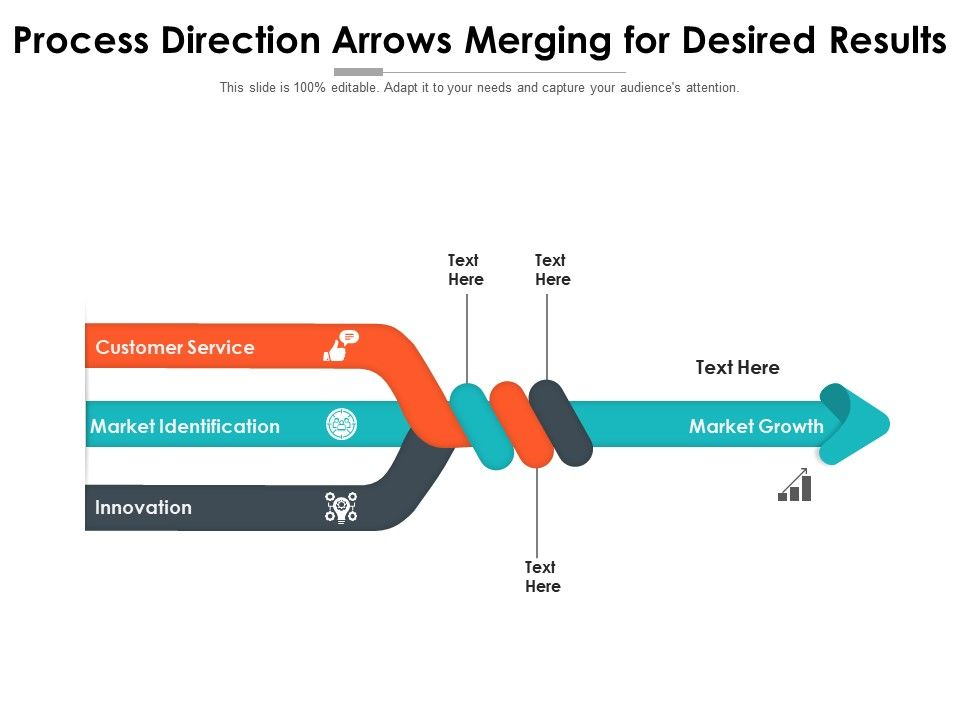 Process Direction Arrows Merging For Desired Results
