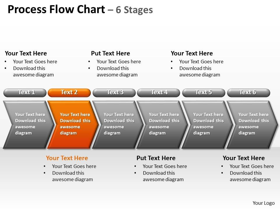 process flow chart 6 stages powerpoint diagrams presentation, Modern powerpoint
