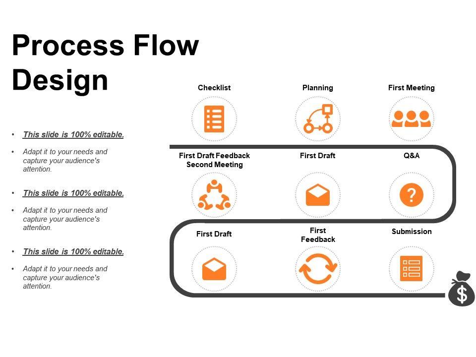 Process Flow Design Powerpoint Templates Microsoft