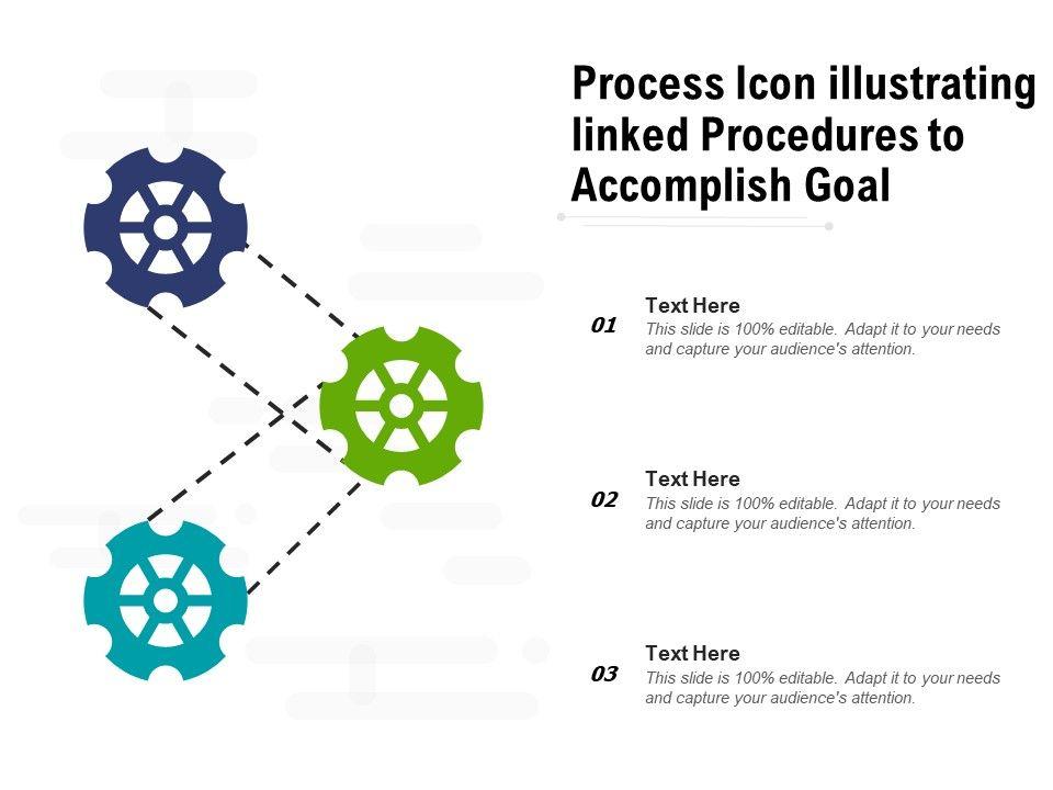 Process Icon Illustrating Linked Procedures To Accomplish Goal