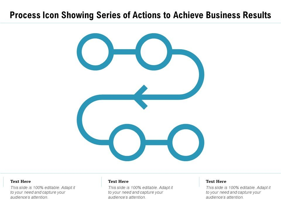 Process Icon Showing Series Of Actions To Achieve Business Results