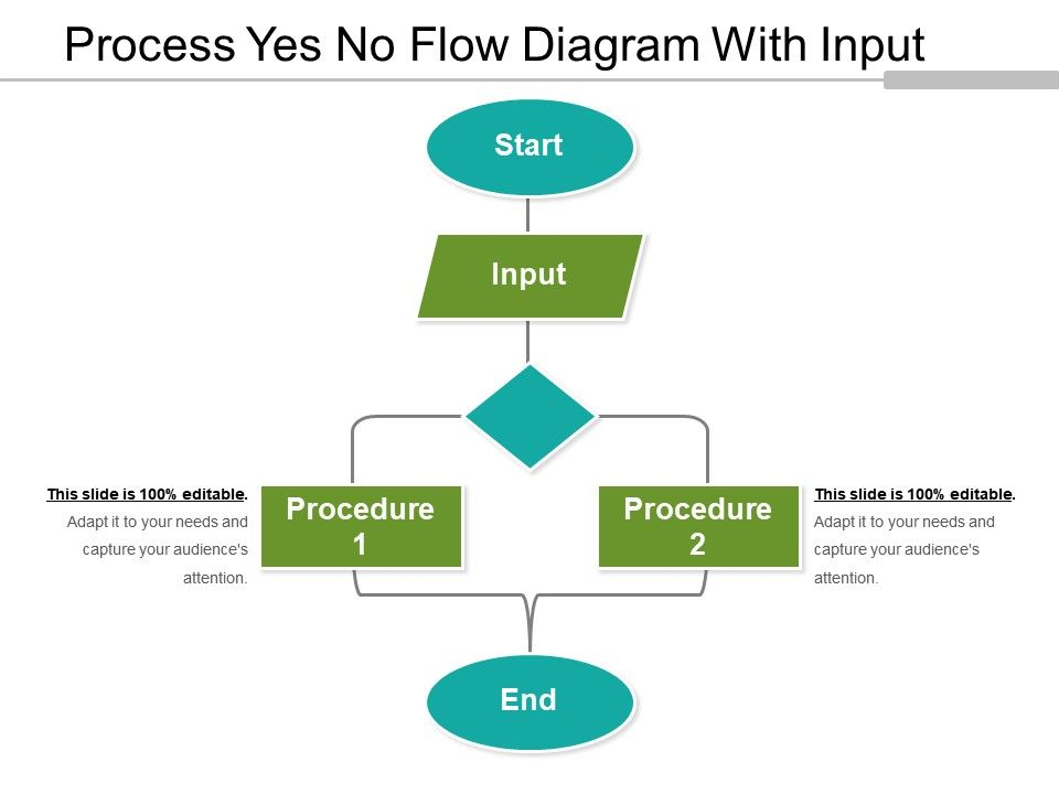 process yes no flow diagram with input powerpoint templates rh slideteam net flowchart process with yes and no Business Flow Diagram