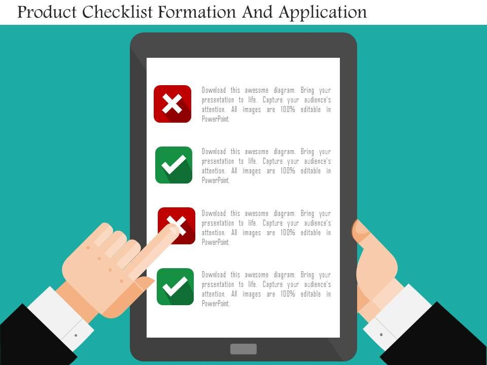product_checklist_formation_and_application_flat_powerpoint_design_Slide01