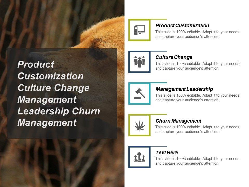 product_customization_culture_change_management_leadership_churn_management_cpb_Slide01
