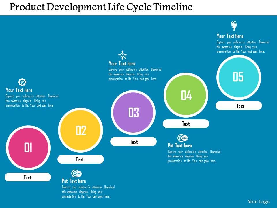 Product development life cycle timeline flat powerpoint for Product design development