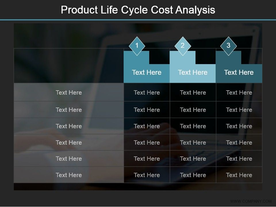 Product Life Cycle Cost Analysis Ppt Examples Slides