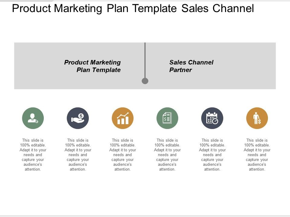 Product Marketing Plan Template Sales Channel Partner Task