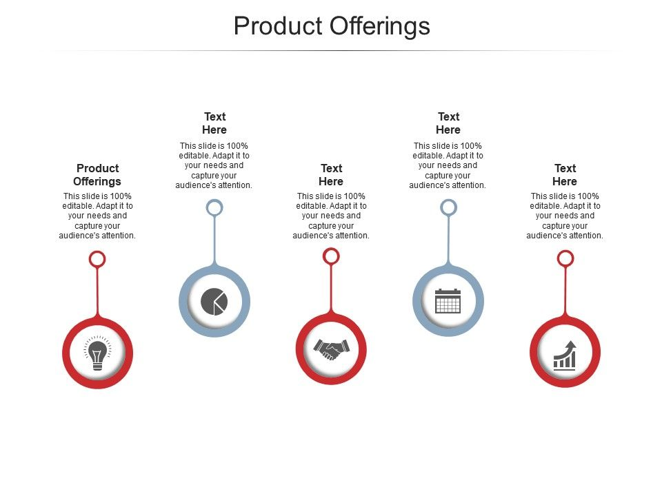 Product Offerings Ppt Powerpoint Presentation Inspiration Guide Cpb