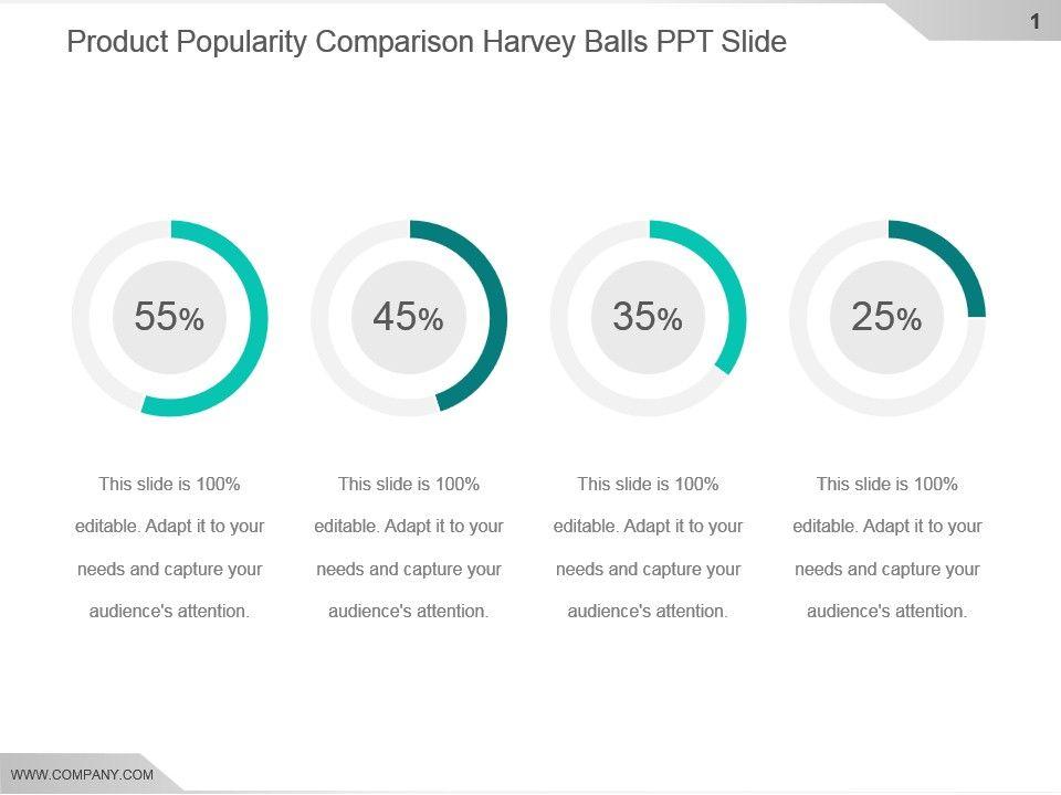 Harvey Balls Diagram, 00735, Tables — PoweredTemplate.com