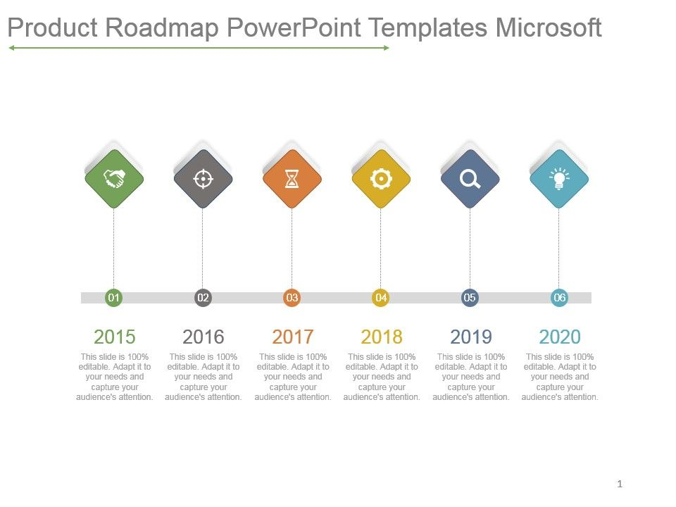 product roadmap powerpoint templates microsoft ppt images gallery