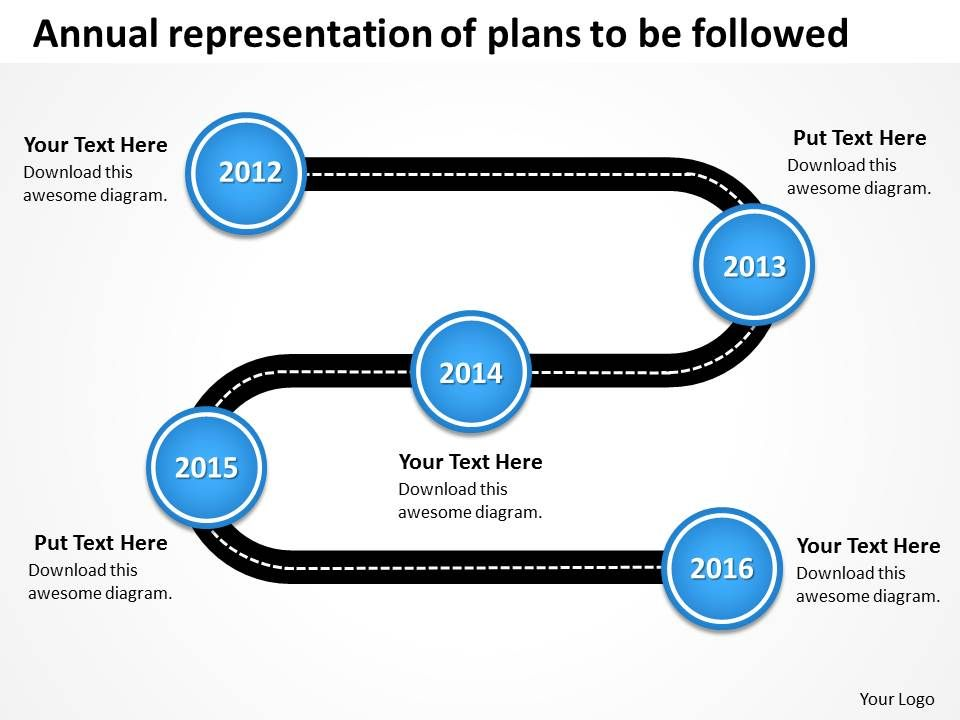 road map ppt template free