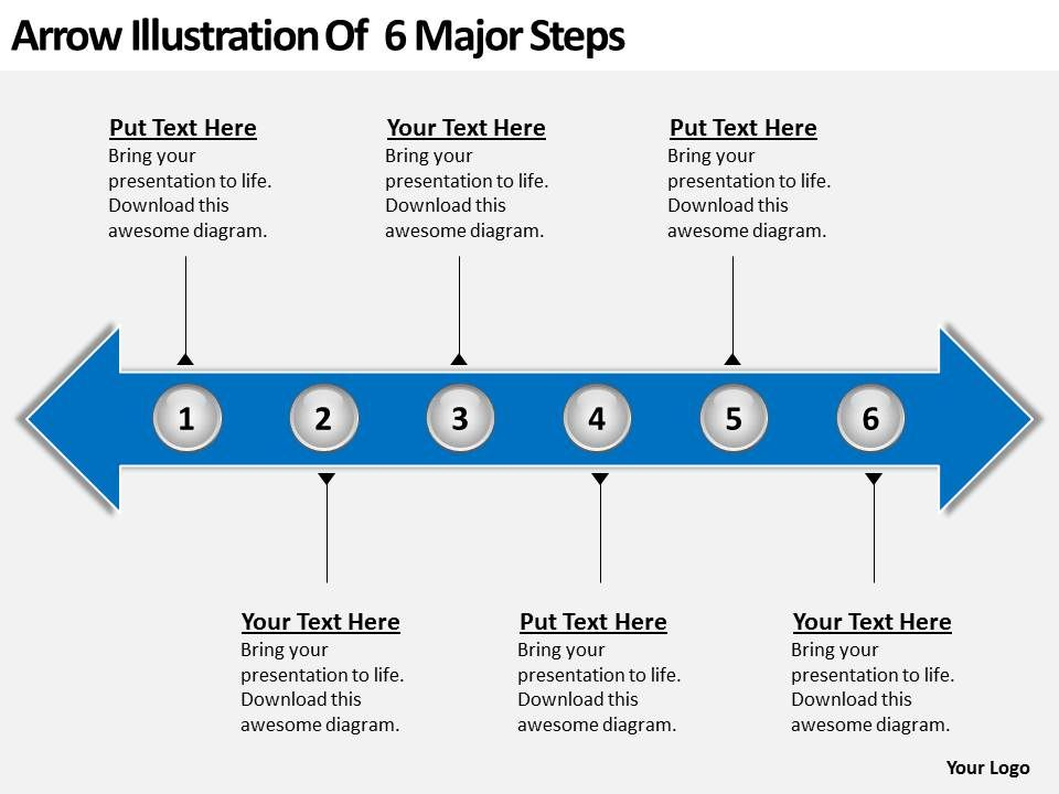 Product roadmap timeline arrow illustration of 6 major steps productroadmaptimelinearrowillustrationof6majorstepspowerpointtemplatesslidesslide01 toneelgroepblik Gallery