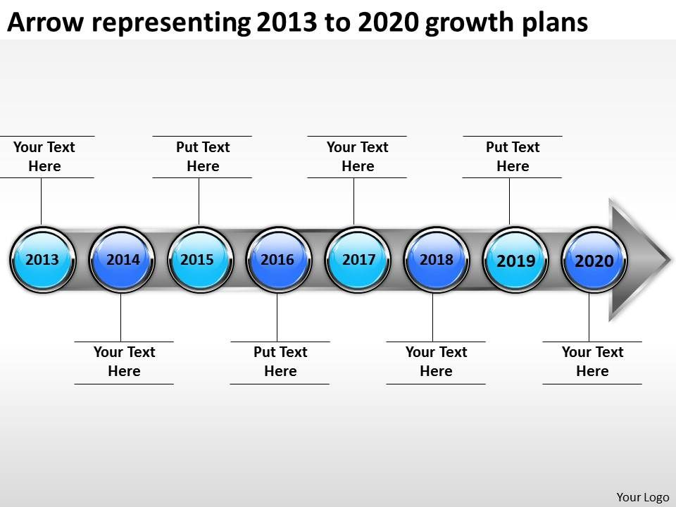 Product roadmap timeline arrow representing 2013 to 2020 growth productroadmaptimelinearrowrepresenting2013to2020growthplanspowerpointtemplatesslidesslide01 toneelgroepblik Choice Image