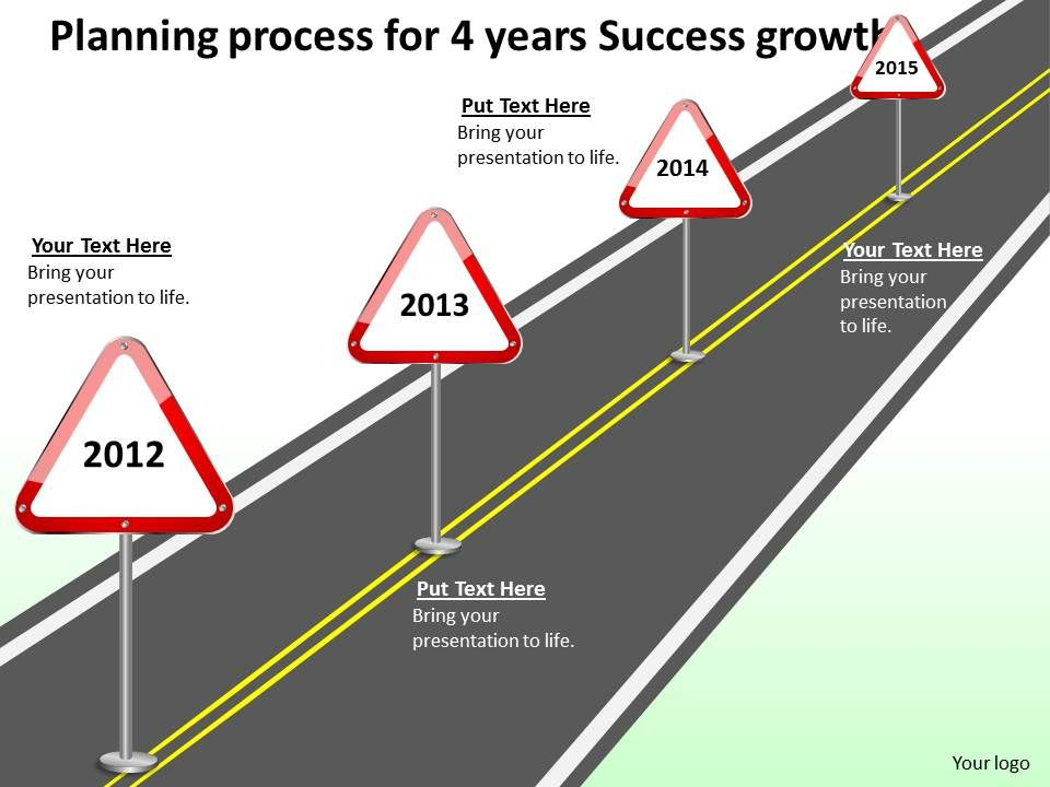 product_roadmap_timeline_planning_process_for_4_years_success_growth_powerpoint_templates_slides_Slide01