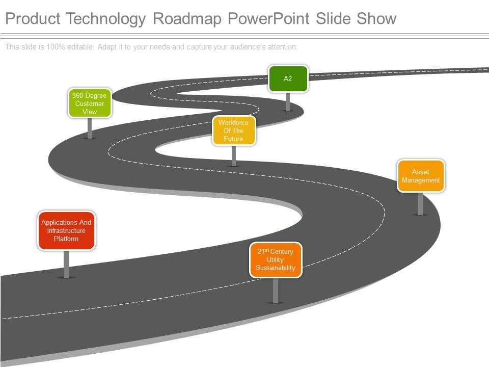 product technology roadmap powerpoint slide show powerpoint slides