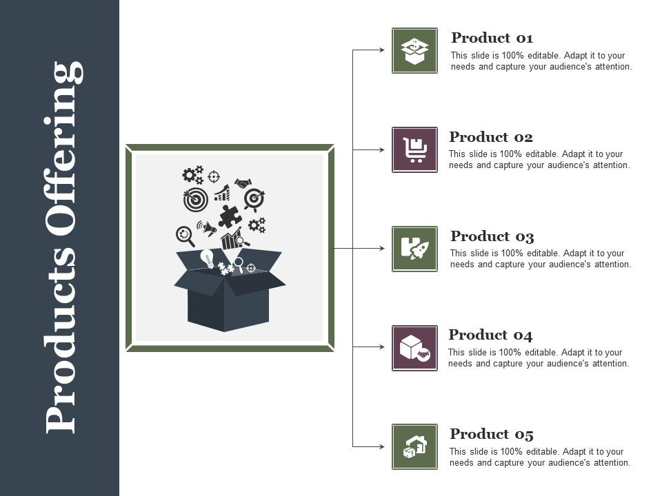Products Offering Ppt Example File Powerpoint Slide Template