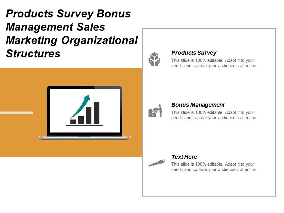 products_survey_bonus_management_sales_marketing_organizational_structures_cpb_Slide01