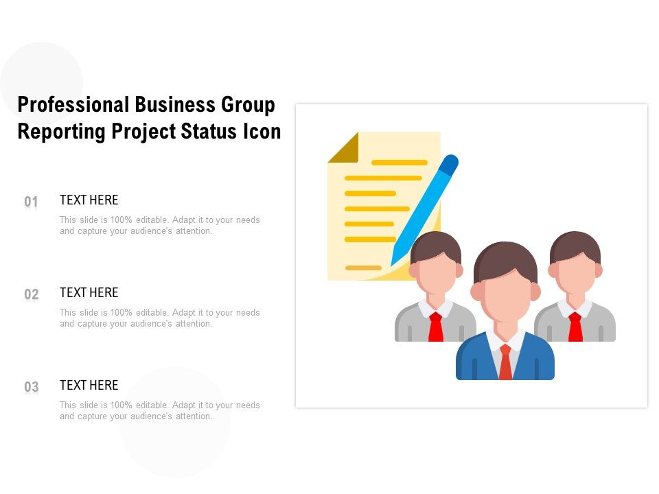 Professional Business Group Reporting Project Status Icon