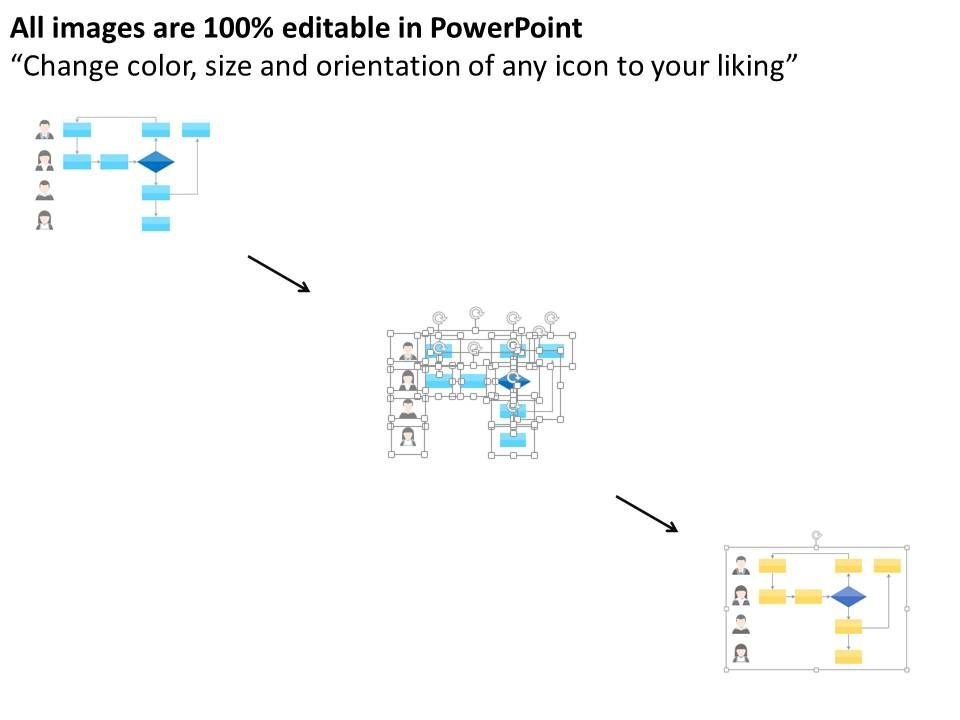 Professional Flow Chart For Swimlane Flat Powerpoint Design Slide02