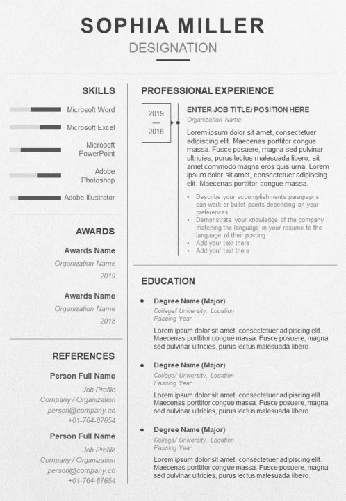 a professional resume summary