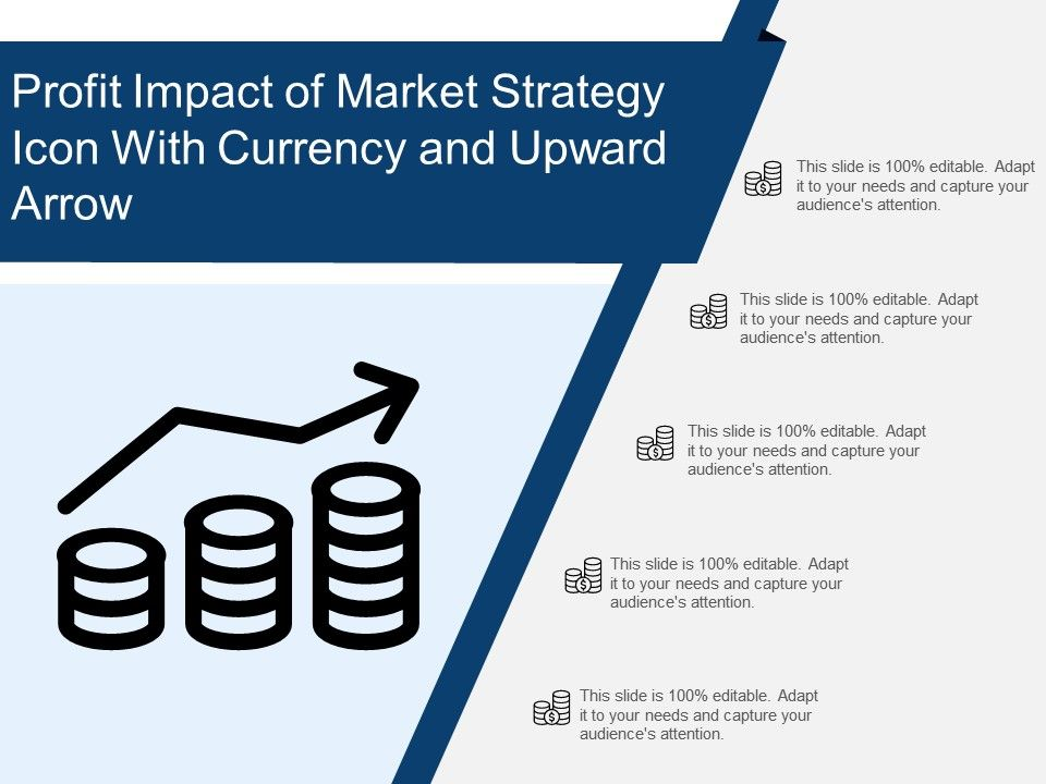 profit_impact_of_market_strategy_icon_with_currency_and_upward_arrow_Slide01