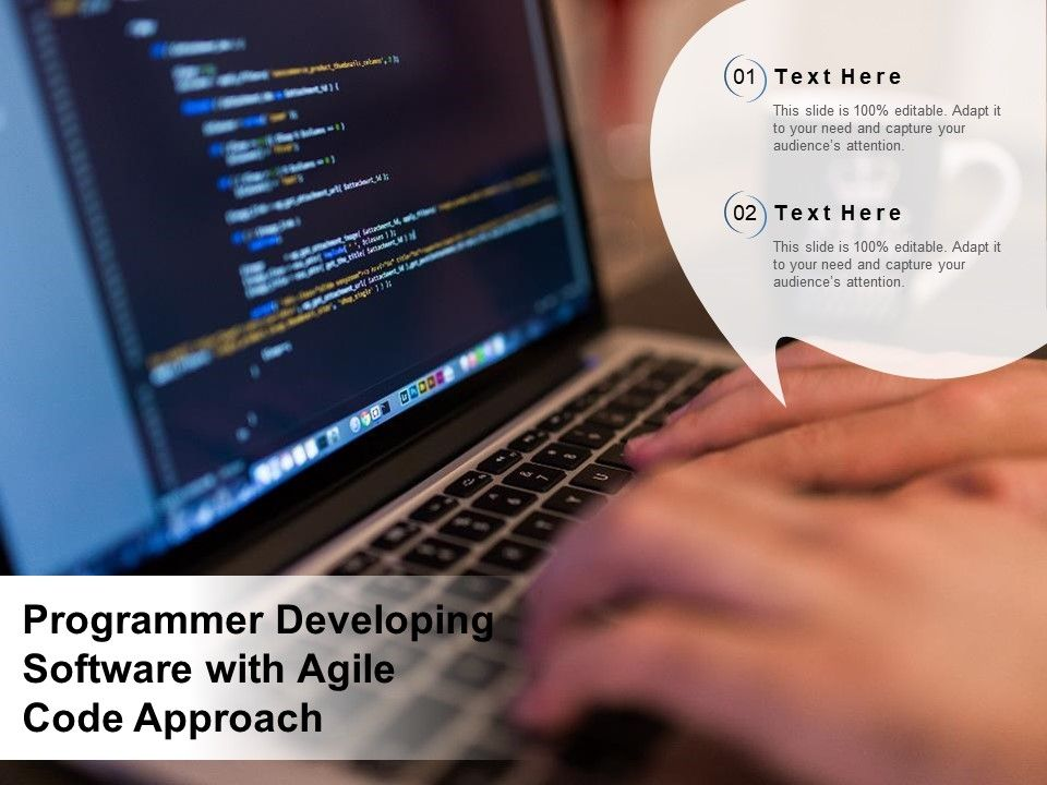 Programmer Developing Software With Agile Code Approach