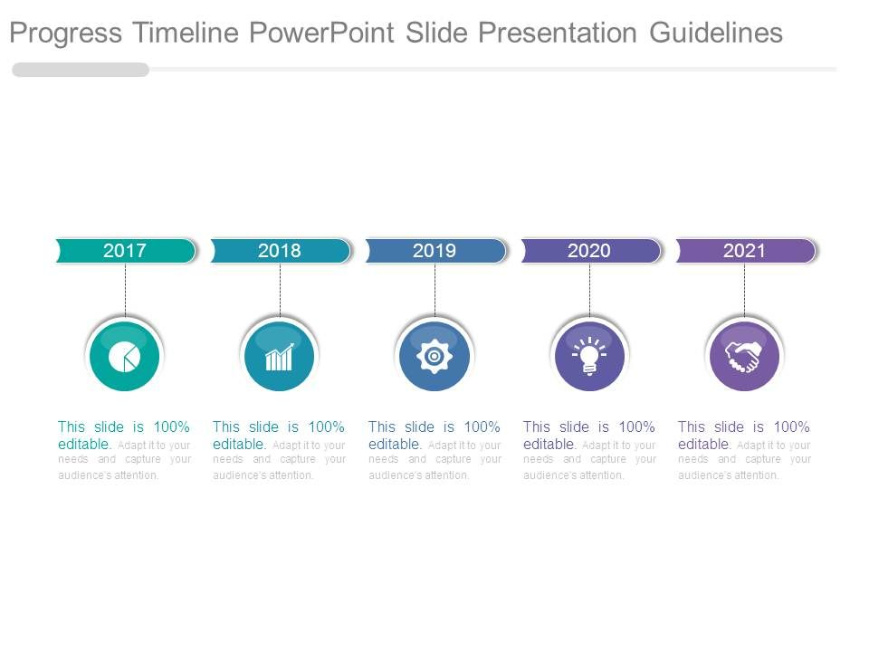 progress timeline powerpoint slide presentation guidelines