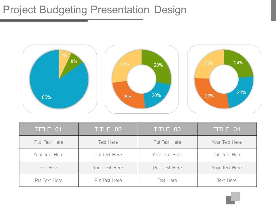 project budgeting presentation design powerpoint slides diagrams