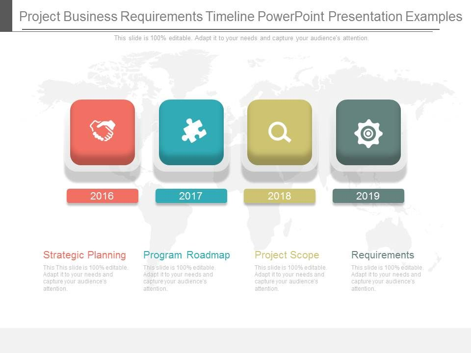 project business requirements timeline powerpoint presentation, Presentation templates