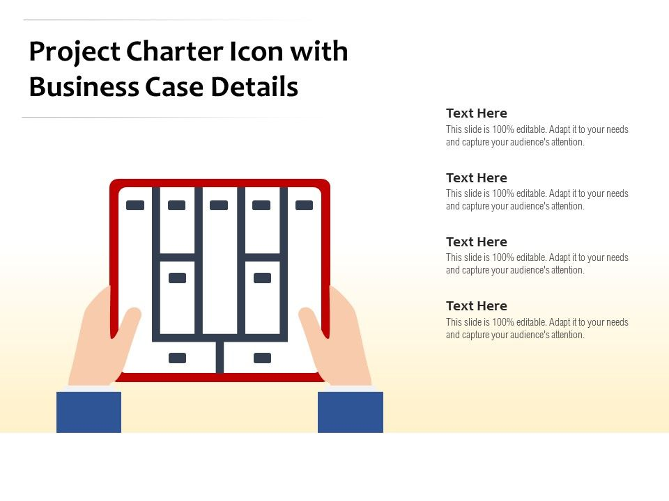 Project Charter Icon With Business Case Details