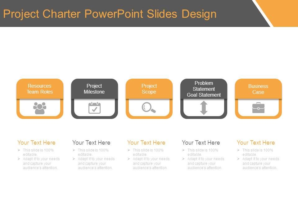 project charter powerpoint slides design powerpoint slides