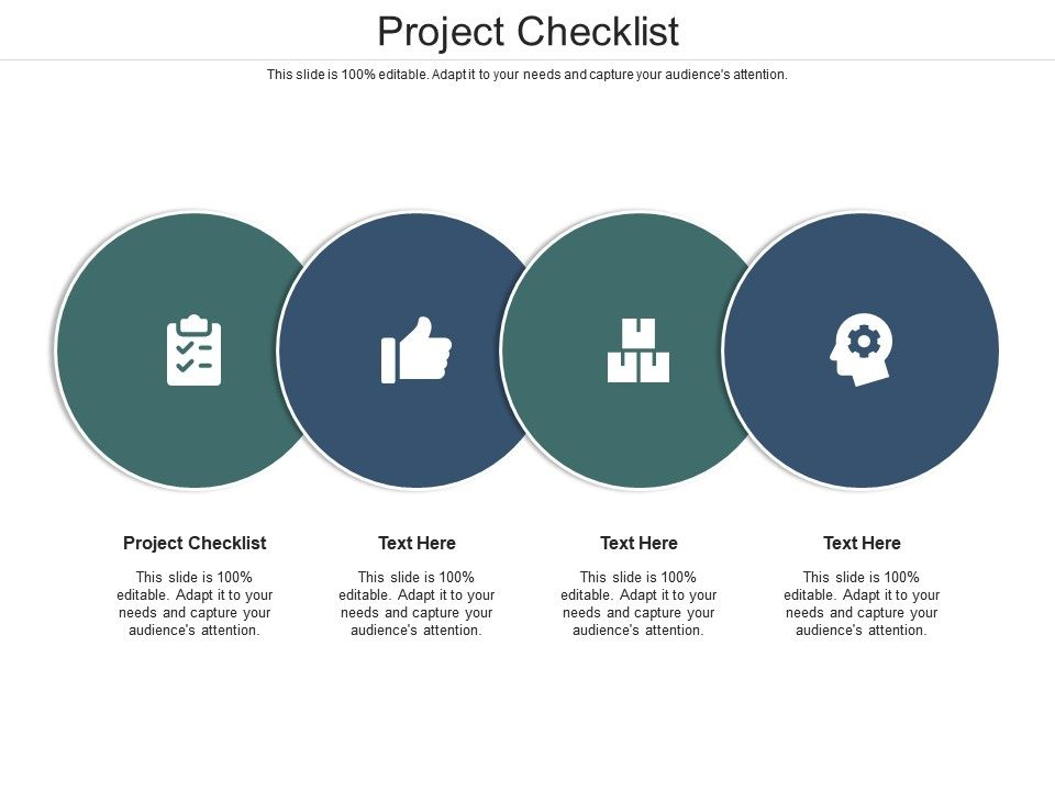 Project Checklist Ppt Powerpoint Presentation Designs Download Cpb