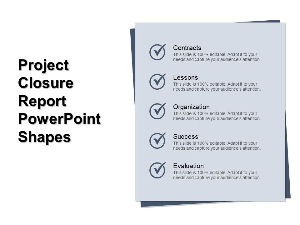 Project Closure Report Point Shapes Slide01 Slide02 Slide03