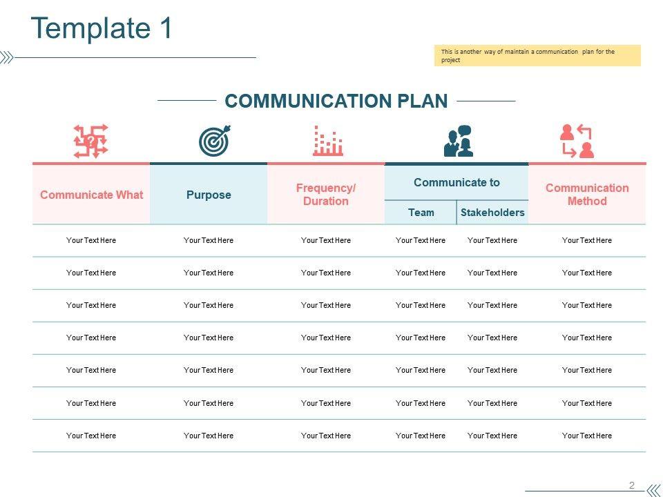 Project Communication Plan Powerpoint Presentation Slides