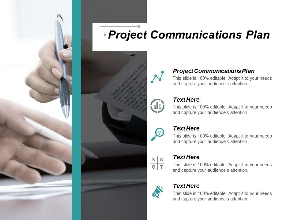 Project Communications Plan Ppt Powerpoint Presentation Icon