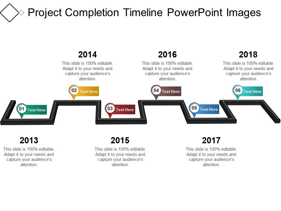 project completion timeline powerpoint images powerpoint slide