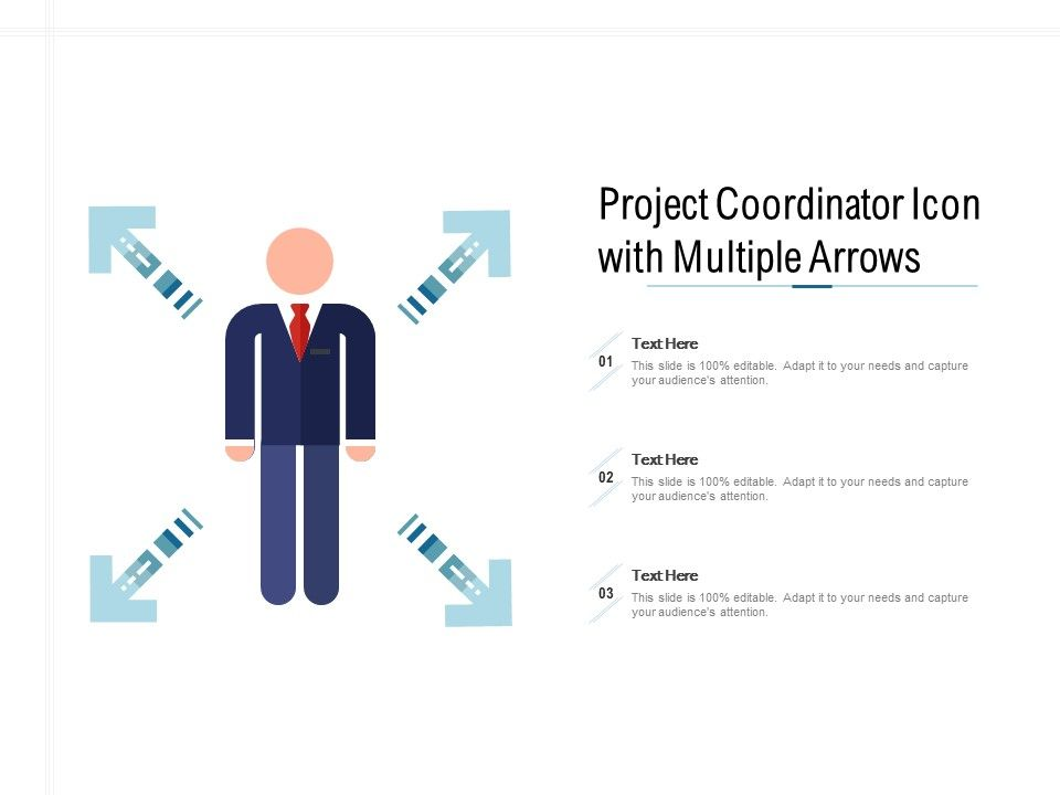 Project Coordinator Icon With Multiple Arrows