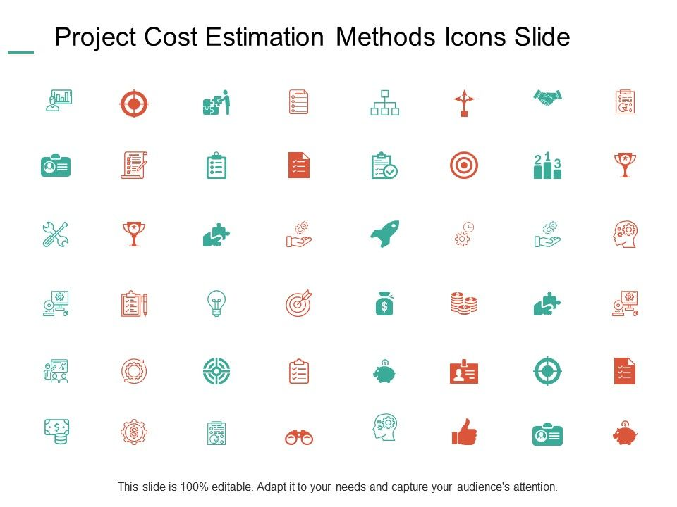 project_cost_estimation_methods_icons_management_ppt_powerpoint_presentation_icon_templates_Slide01