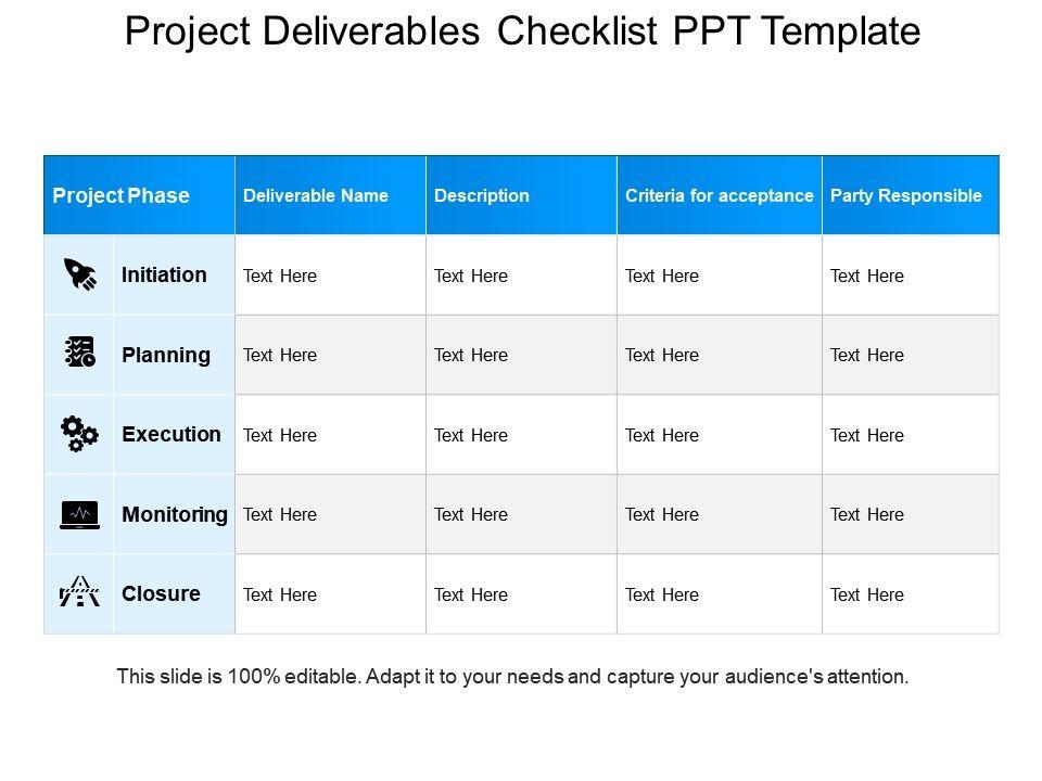project_deliverables_checklist_ppt_template_Slide01
